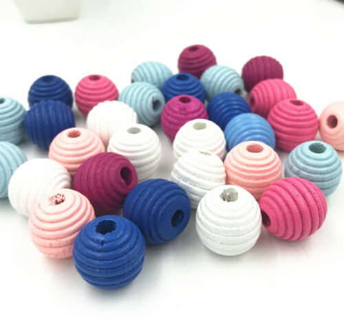 Wooden Thread Spacer Beading Beads  Jewelry Making DIY Wood Bead 13X14mm