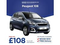 Brand New Peugeot 108 - All Models Available