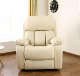 Cream Electric recliner Armchair New condition free local delivery