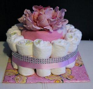 GIRL'S DIAPER CAKE
