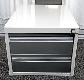 Two drawer steel storage unit
