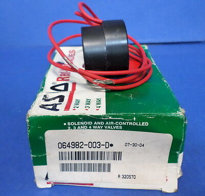 ASCO RED HAT SOLENOID CALCE COIL 064982-003-D NIB
