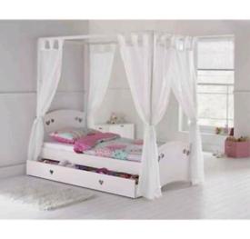 Argos Home Mia Single 4 Poster Bed Frame - White