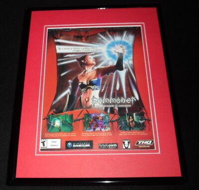 Summoner a Goddess Reborn Gamecube 2003 Framed 11x14 ORIGINAL Advertisement