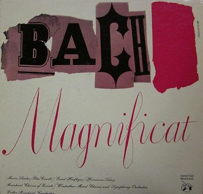 "Bach/Reinhart(10"" Vinyl)Magnificat D Major-UK-CM 31-Concert Hall"