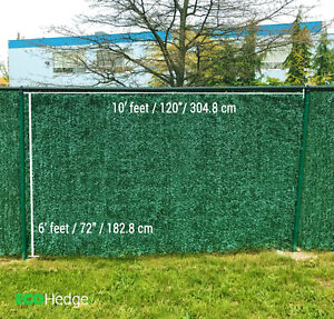 EcoHedge 10'x6' Privacy Artificial Hedge for Chainlink Fence