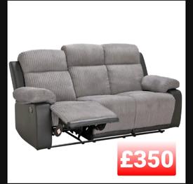 Bradley 3 seater recliner sofa. Grey