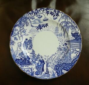 Royal Crown Derby Mikado 9 dinner plates 10 1/4 inches,1933