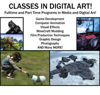 Classes in Media Art! Teaching how to make movies and games!