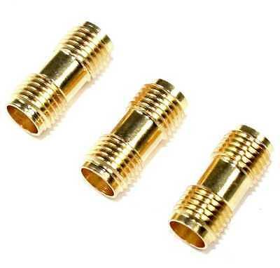 SMA F-F Barrel connector - Lot of 3   ( CA909 )