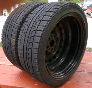 Sets of 225/45/17, 195/65/15 winter tires