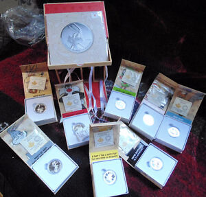 Looney Tunes Complete Set 10 coins of solid 999.9 proof silver London Ontario image 4