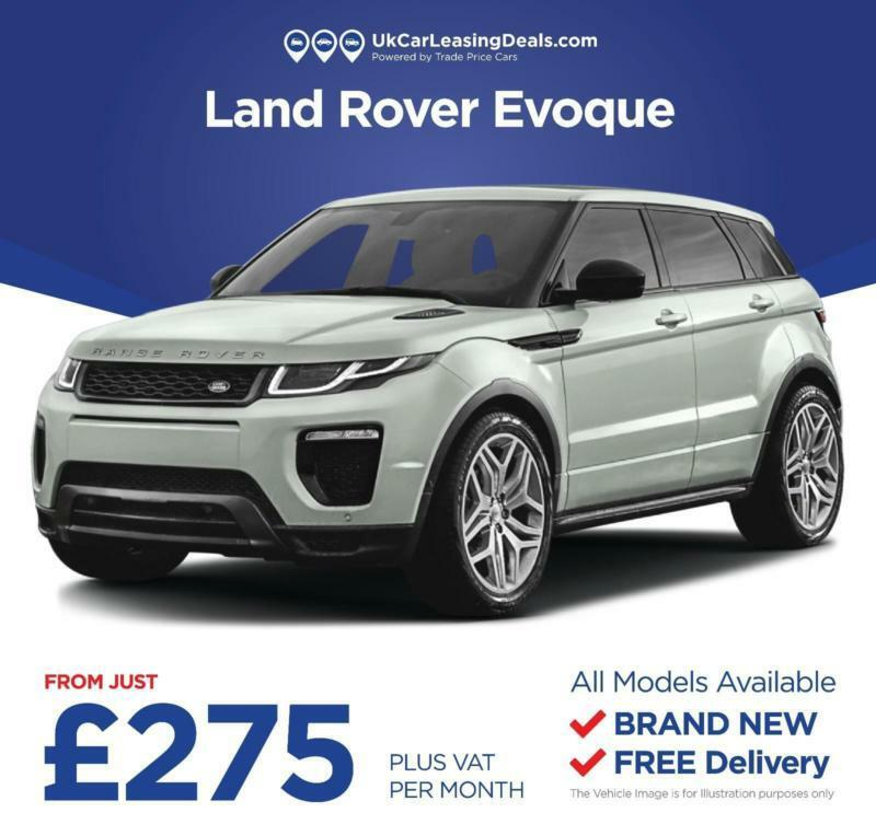 Car Finance Land Rover: Brand New Land Rover Range Rover Evoque On A Lease