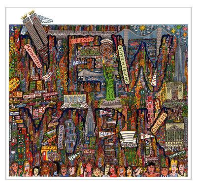 New York Street Map (City map of New York PopArt Mets Wallstreet Kunstdruck Poster Plakat Rizzi 33)