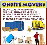 """""""ONSITE MOVERS"""" MEN & WOMEN WHO SPECIFICALLY WORK FOR YOU"""