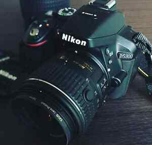 NIKON D5300 WITH 2 LENSES ALMOST NEW