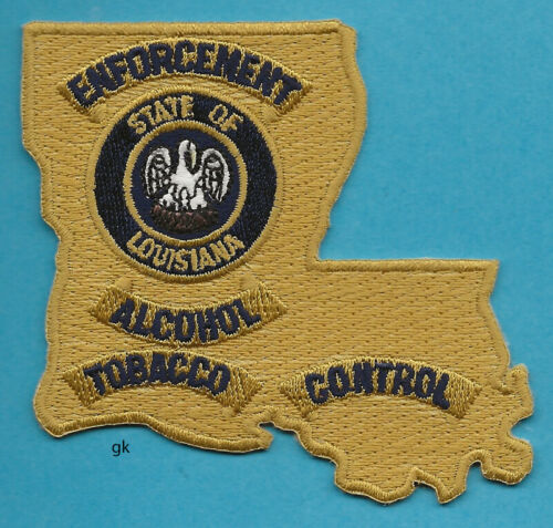 LOUISIANA ABC ALCOHOL TOBACCO CONTROL POLICE STATE SHAPE SHOULDER  PATCH