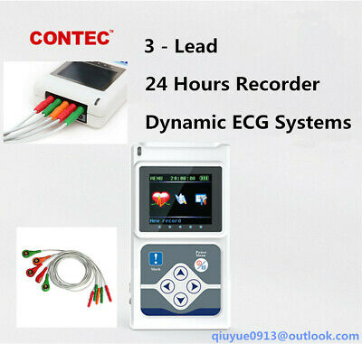 Dynamic 24 Hours 3 Channel Ecg Holter Ekg System Portable Ecg Monitorpc Swusa