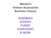 Women's Fashion Accessories Stock Job Lot - Bags, Purses, Scarves, Hats & more