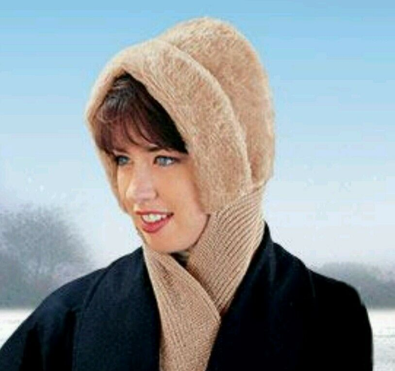 Hat And Scarf All in one 4 Foot Knit Scarf FASHIONABLE Winter Hat Warmth NEW Clothing, Shoes & Accessories