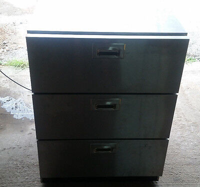Summit Sp6ds 24  Triple  3  Drawer Refrigerator Stainless Steel Commercial Unit