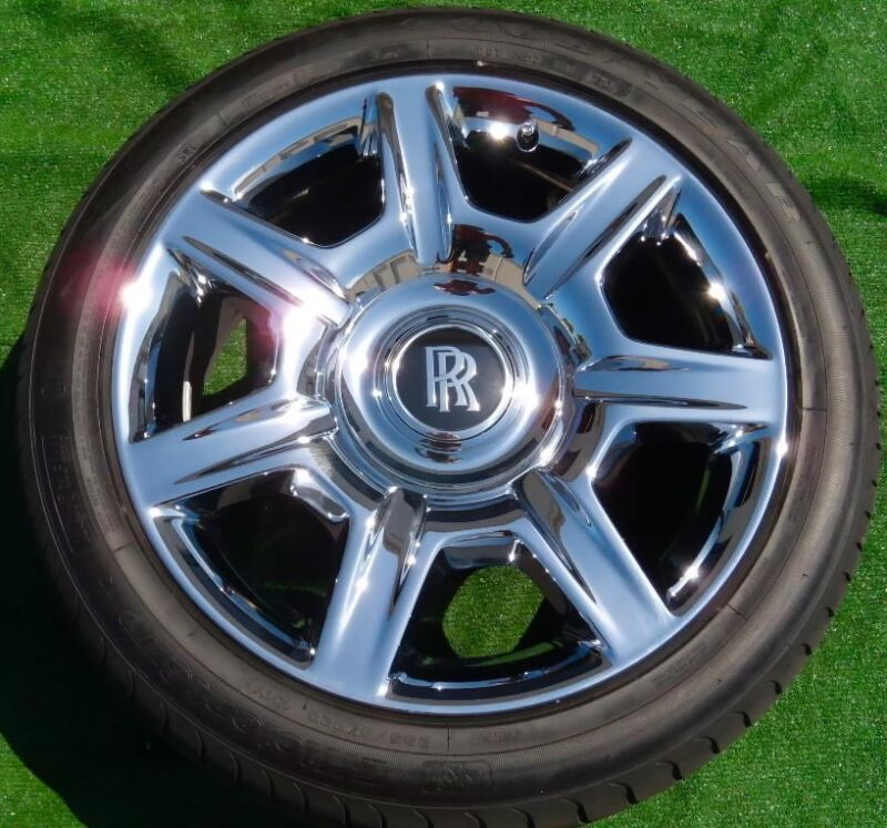 Set Authentic Genuine OEM Factory Rolls-Royce GHOST Chrome 20 inch WHEELS TIRES