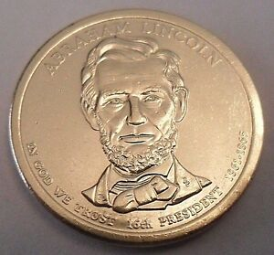 2010 P Abraham Lincoln  Presidential Dollar Coin   **FREE SHIPPING