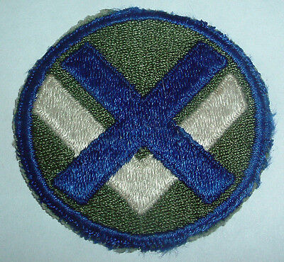 AMERICAN PATCHES-ORIGINAL WW2 15th ARMY CORPS SNOWY WHITE BACK