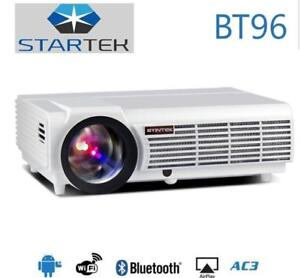 WOW ! super power smart projector 3D  5500lumens bluetooth WiFi / 6 mois de garantie / projecteur home theater