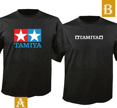 Tamiya Cotton Black T Shirt T-Shirt S - 5XL US SIZE
