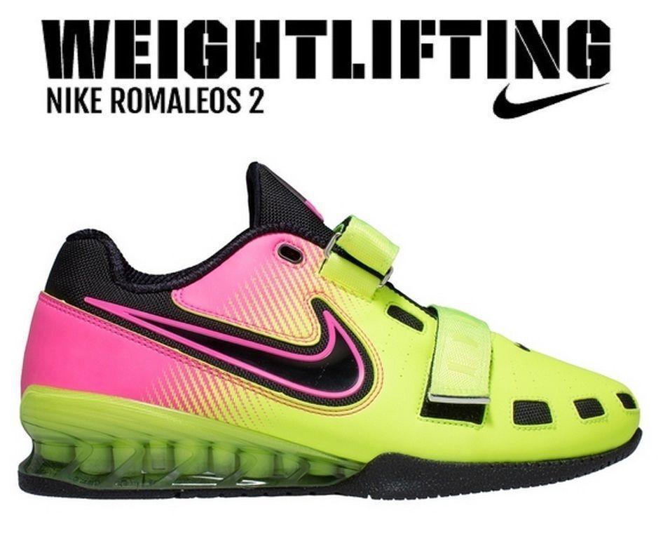 Details zu NIKE Romaleos 2 Weightlifting Powerlifting Shoes Gewichtheben Schuhe Pink