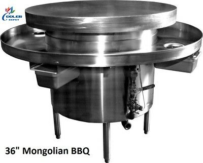 New 36 Commercial Mongolian Bbq Cooker Restaurant Equipment Model Mb36 Nsf