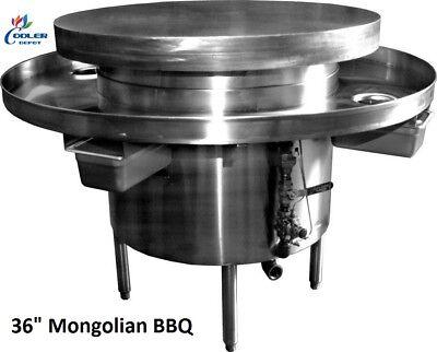 New 36 Commercial Mongolian Bbq Cooker Restaurant Equipment Model Mb36 Nsf