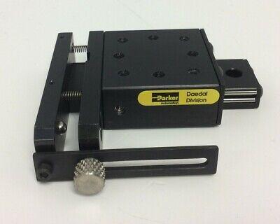 Parker 4054m Linear Slide Stage Manual Ball Bearing Positioner 25mm Travel
