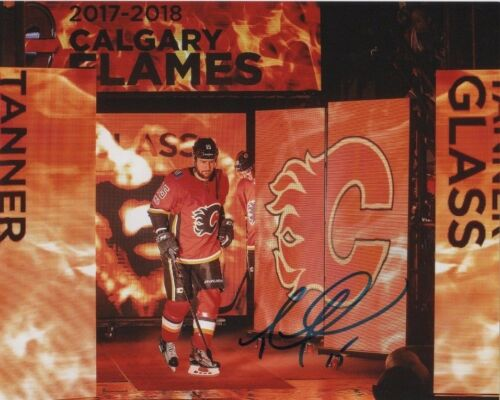 Calgary Flames Tanner Glass Autographed Signed 8x10 NHL Photo COA B