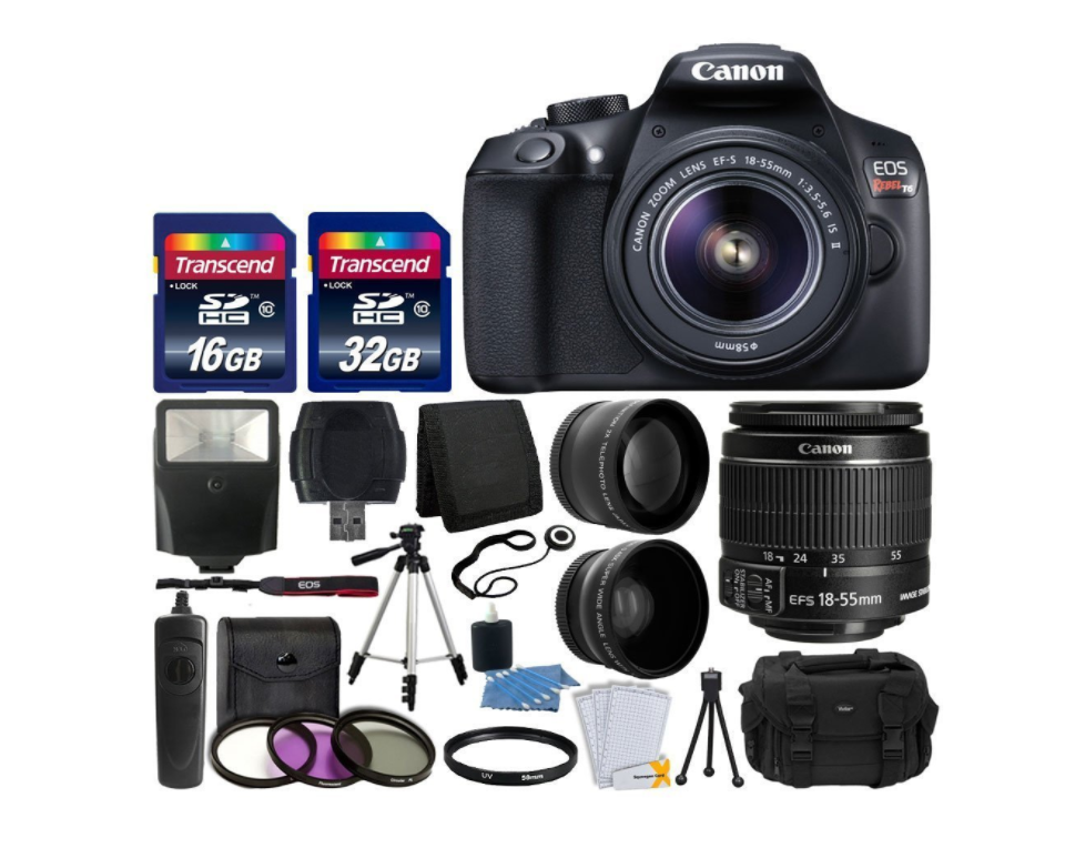 NEW Canon EOS Rebel T6 Digital SLR Professional Camera Best