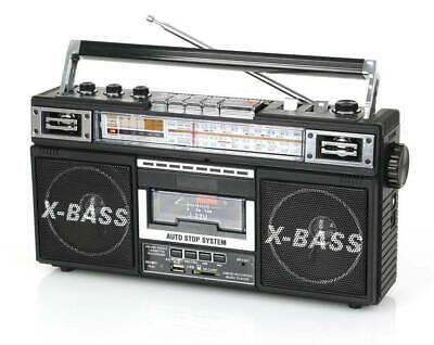 Retro Boom Box (QFX J-22U Boom Box Retro Four-Band Radio & Cassette to MP3 Converter in)