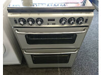 a038 silver stoves 60cm gas cooker comes with warranty can be delivered or collected