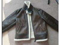 Mens XL sheepskin b-3 military flying jacket