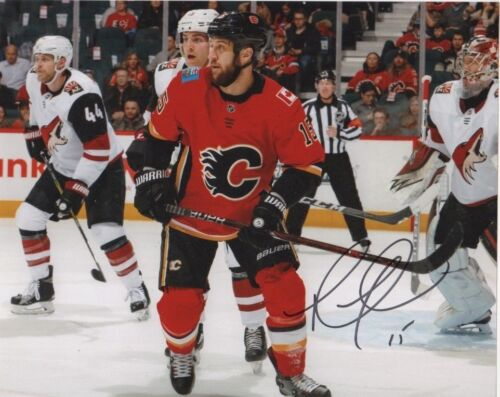 Calgary Flames Tanner Glass Autographed Signed 8x10 NHL Photo COA #4