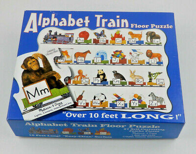 Alphabet Train Floor Puzzle Jumbo Pieces 10ft Melissa & Doug Self Correct (C015)