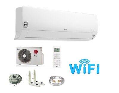 Wärmepumpen Klimaanlage (LG DELUXE DC09RQ 2,5kW SET INVERTER Split Klimaanlage Klimagerät Wärmepumpen )