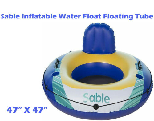 Sable Inflatable Water Float Floating Tube Pool Lounger for Pool Lake River WB05