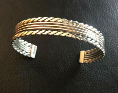 """VTG Sterling Silver Bracelet Cuff Native American Tahe Navajo 5.25"""" 19g 925 1185"""