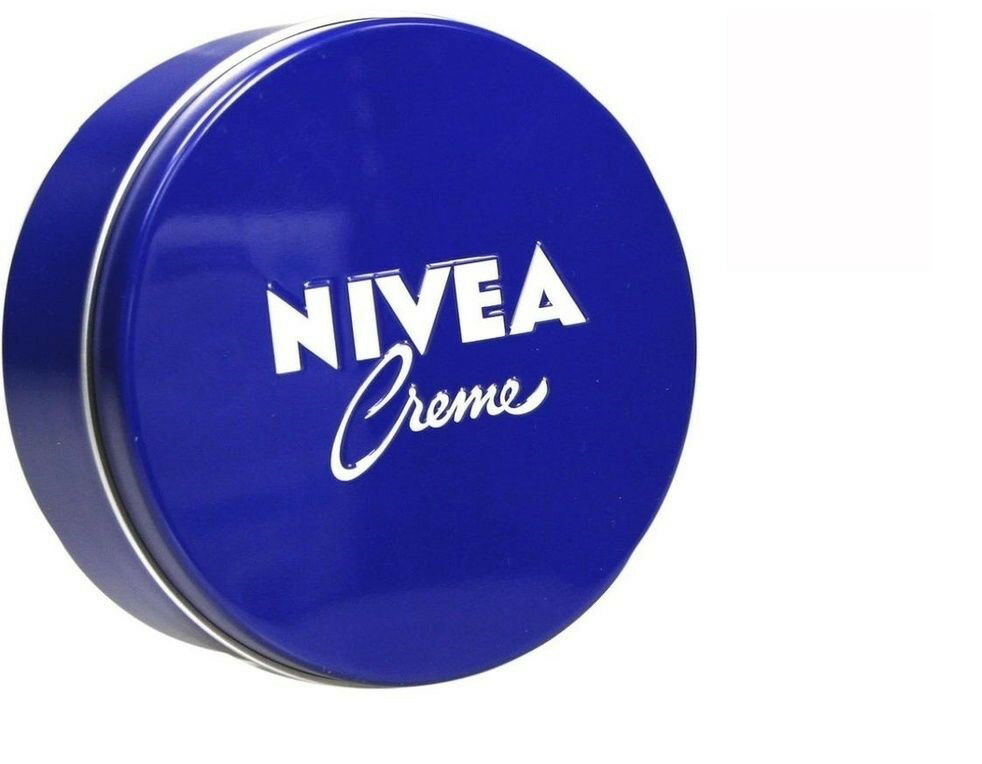 2 x Nivea Moisturizing Body Creme 400ml  Blue Tin Box Skin C