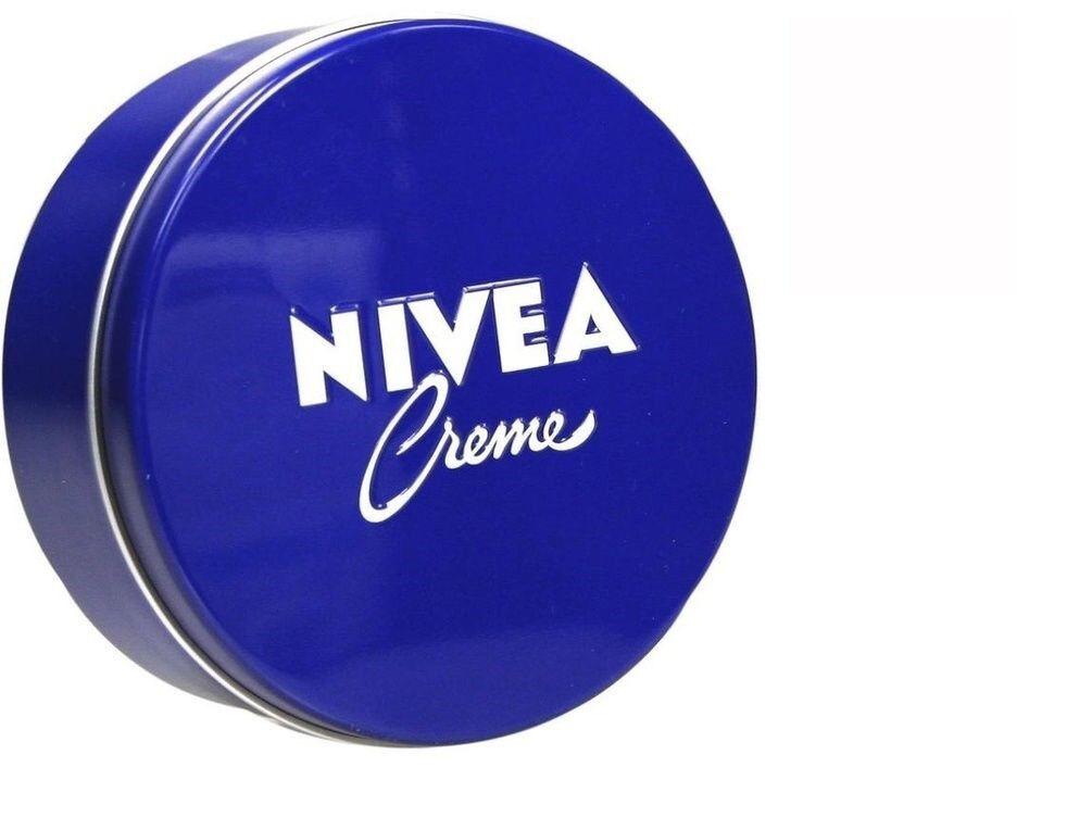 2 x Nivea Moisturizing Body Creme 400ml  Blue Tin Box Skin C