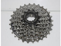 Shimano 7 speed bicycle cassette, 7 speed, 11 - 28T, vgc. Bike freewheel