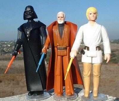 2  Custom Extention Lightsaber Lot Yellow Red  Vader  Luke Ben Vintage Star Wars
