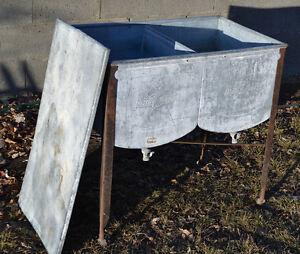 ... Antique Speed Queen Galvanized Steel Double Sink Washer Wash Basin Tub