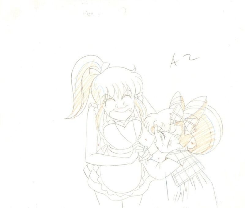 Anime Genga not Cel Sailor Moon 2 pages #1223